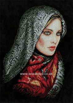 Buy Woman in Veil Cross Stitch Kit Online at www.sewandso.co.uk