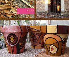 macetas de otoño Painted Clay Pots, Painted Flower Pots, Hand Painted, Clay Pot Projects, Clay Pot Crafts, Diy Crafts, Flower Pot Art, Flower Pot Crafts, Decorated Flower Pots