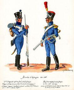 FRANCE - Armée de Espagne, Train de Equipages, Company of Ouvriers, Ouvrier & Train de Equipages, Brigadier 1811-13