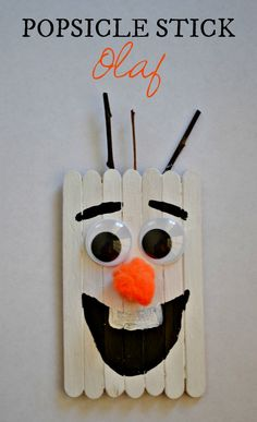 Popsicle Stick Snowman Craft / Ornament (Plus Olaf Version) Popsicle Stick Olaf Craft – Disney Crafts Ideas Christmas Ideas For Boyfriend, Christmas Gifts For Friends, Kids Christmas, Boyfriend Ideas, Cheap Christmas, Reindeer Christmas, Christmas Games, Funny Christmas, Merry Christmas
