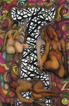 "Saatchi Online Artist daniel levy; Assemblage / Collage, ""Génesis"" #art"