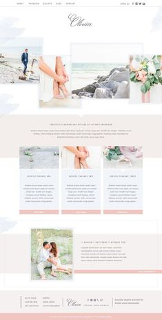 Romantic Showit Website Template for Photographers - Wordpress Portfolio Theme - Ideas of Wordpress Portfolio Theme - Excited to share this item from my shop: Olivia Website Layout, Website Themes, Website Designs, Nice Website, Layout Design, Logo Design, Web Layout, Design Websites, Website Design Inspiration