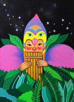 Paula Duró on Behance Woman Illustration, Graphic Illustration, South American Art, Soul Art, Pattern Art, Lovers Art, Painting & Drawing, Graffiti, Contemporary Art