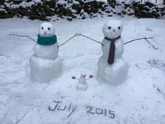 Snowman family. Baby announcement. Baby snowman. Due July 2015. Winter