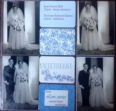 Heritage wedding layout. #Heiddi Swapp cutout card. 1st attempt at Project Life by Michele Hinton.