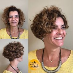 Short Permed Hair, Cute Hairstyles For Short Hair, Permed Hairstyles, Modern Hairstyles, Older Women Hairstyles, Wavy Hair, Short Hair Cuts, New Hair, Curly Hair Styles