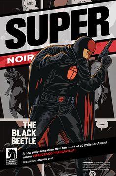 "Dark Horse Coins The Phrase ""Super Noir"" For The Black Beetle"