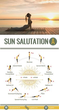 Here I'm gonna share with you the breakdown of the easiest and the most beginner-friendly variant of Sun Salutations – Sun Salutation A. I'm gonna focus on how to get into and transition between poses, tips to avoid injuries, and modifications for beginners.
