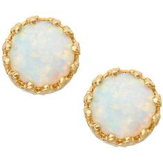 Tai Jewelry Opalescent Stud Earrings with Rainbow Halo yX2MBbs1