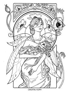 Floral Fairies Coloring Book (060862) Details - Rainbow Resource ...