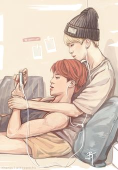 "kharys: "" fanart ☆ yoonmin 