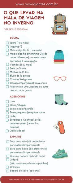 Lista do que levar em mala de inverno ou lugar frio. Para mais informações e 32ef77fdfc