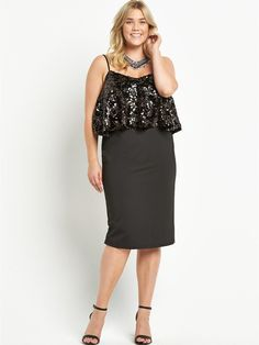 Sequin Top Double Layer Dress, http://www.very.co.uk/so-fabulous-sequin-top-double-layer-dress/1458047303.prd
