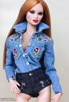 Erin Voltage | by enigma02211 Doll Clothes Barbie, Dress Up Dolls, Barbie Dolls, Doll Dresses, Dolls Dolls, Fashion Royalty Dolls, Fashion Dolls, Barbie Model, Poppy Parker
