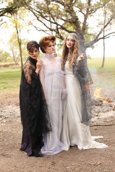 Hocus Pocus! http://www.stylemepretty.com/little-black-book-blog/2013/10/31/hocus-pocus-wedding-inspiration-from-meghan-savage-photography-sequined-silver-lining/ | Photography: Meghan Savage -