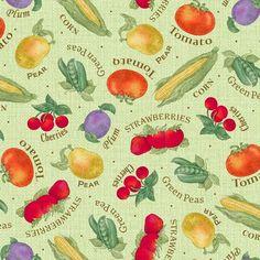 Garden Variety Fruits and Veggies Green