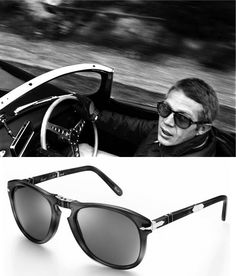 """The Art Of Cool"" Steve McQueen + Persol Sunglasses + Jaguar ."