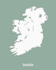 All roads lead to Dublin in Green #interactiveart #ireland #emeraldisle #map #Dublin #maze #mickallan http://ift.tt/1QELqsK
