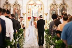 Greek Orthodox Wedding Ceremony Portrait | Wedding Ceremony Venue St Nicholas Greek Orthodox Cathedral Tarpon Springs | St. Petersburg Wedding Photographer Limelight Photography