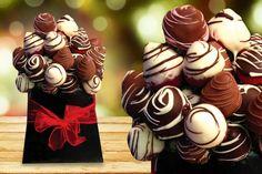 Chocolate Strawberry Bouquet centerpieces