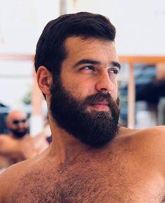 Beard Boy, Beard No Mustache, Men Beard, Moustache, Scruffy Men, Hairy Men, Beard Styles For Men, Hair And Beard Styles, Grey Hair Men
