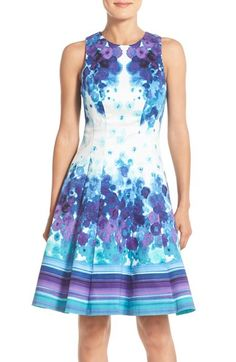 Maggy London Floral Print Fit & Flare Dress (Regular & Petite) available…