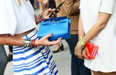 Cool rayures bleu klein
