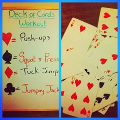 Do a Deck of Cards Workout: This is my favourite free workout and it really builds up a sweat in a short amount of time. Take a deck of cards and assign a move to each suit (squats, press-ups, burpees, lunges etc) and then turn over each card one by one. Do the number of moves on the card for the move assigned to the suit. For example, if you have assigned burpees to the diamond suit and you turn over a 5 of diamonds, you do 5 burpees. Face cards are 10 and jokers are a 30-60 second break.