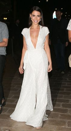 Wow factor: Jessica Lowndes hit Cannes for another night of partying on Monday, looking go...