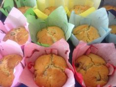 plum and yogurt muffin