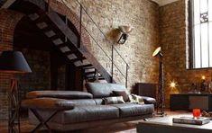 Loft in stile americano - Soggiorno industrial chic
