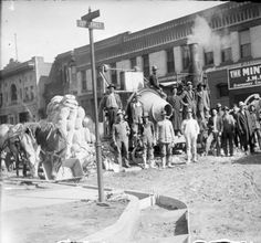 1904 Paving at 13th and Tremont Streets :: History Colorado