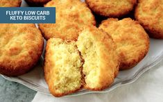 These delicious keto biscuits are a low carb go-to option, packed with all the healthy fats you need to get into ketosis.