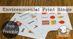 Printable environmental print bingo game for your preschool, pre-k, or kindergarten classroom.