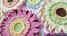 Crochet Flower Pattern MyPicot   Free crochet patterns