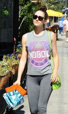 Emmy Rossum - Heading to a yoga class in LA