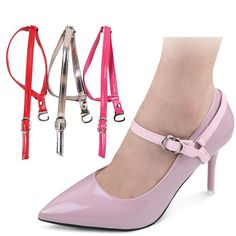 5447a8f9264 Detachable Leather Shoe Belt Strap Band Holding For Loose High Heeled Shoes  Ankle Shoes