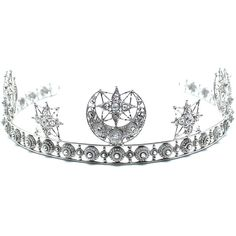 The Moon Goddess Crown (5.505 CZK) ❤ liked on Polyvore featuring jewelry and silver