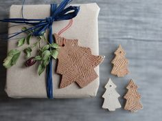These handmade Christmas tree ceramics make lovely gift tags as well as Christmas ornaments!