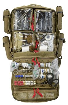 TACOPS® Medical Backpack — TSSi - Real Time - Diet, Exercise, Fitness, Finance You for Healthy articles ideas Tactical Medic, Tactical Bag, Tactical Survival, Survival Prepping, Survival Gear, Survival Skills, Survival Equipment, Emergency Medical Kit, Medical Bag