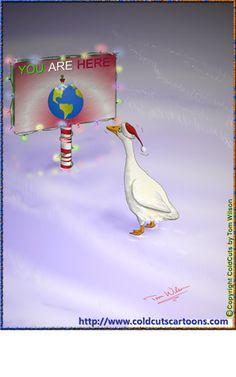 Christmas lost goose end up at the north pole