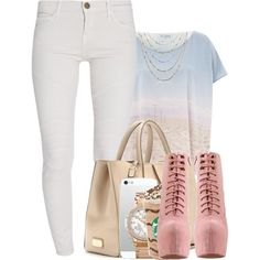 A Day On the Beach., created by theqveen on Polyvore