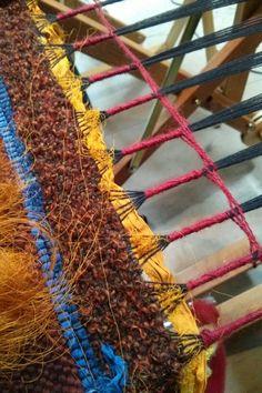 Wrapping & weaving - weaving retreat www.saorisaltspring.com