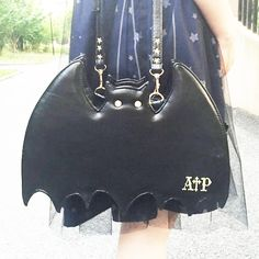 Japanese Accessories Online Store Shoulder Bag on Mori Girl の森ガール.Harajuku Lolita Bat Shape Shoulder Bag Gothic 3Ways Backpack Mg644 The unique design,full of young vitality and glamour.