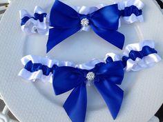 SALE Royal Blue Wedding Garter Set Bridal Garter by HopesBridal, $15.00