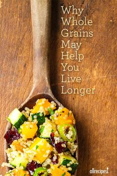 Whole grain recipes starring barley, quinoa, brown rice, oats, and more...for a healthy, longer life.