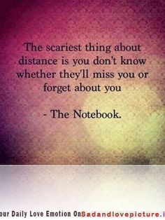 The scariest thing about distance Sad and Love Picture