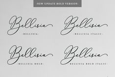 Bellisia Script + Bold Version ~ Script Fonts ~ Creative Market