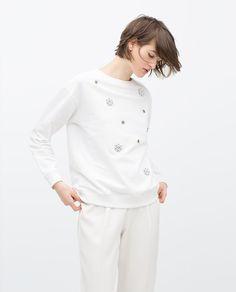 Image 1 of PLUSH SWEATSHIRT from Zara