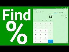 How to find percentage of number with a calculator - YouTube Office Hacks, Windows 10, Calculator, Bar Chart, Life Hacks, How To Find Out, App, Number, Apps